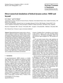 Direct Numerical Simulations of Helical ... by Gómez, D. O.
