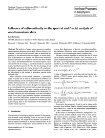 Influence of a Discontinuity on the Spec... by Berton, R. P. H.