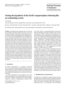 Testing the Hypothesis of the Earth's Ma... by Lui, A. T. Y.