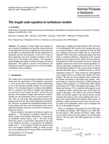 The Length Scale Equation in Turbulence ... by Kantha, L. H.