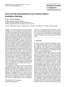 Error Growth and Dynamical Vectors Durin... by Wei, M.