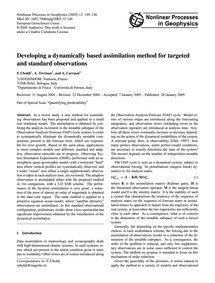 Developing a Dynamically Based Assimilat... by Uboldi, F.