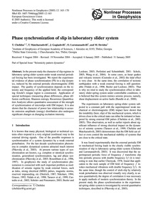 Phase Synchronization of Slip in Laborat... by Chelidze, T.