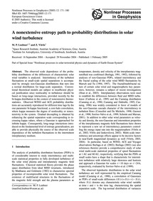 A Nonextensive Entropy Path to Probabili... by Leubner, M. P.
