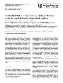 Statistical Distribution of Elapsed Time... by Martínez, M. D.