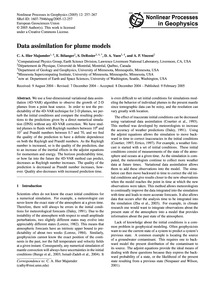 Data Assimilation for Plume Models : Vol... by Hier Majumder, C. A.