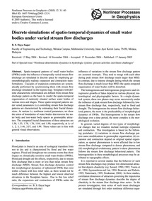 Discrete Simulations of Spatio-temporal ... by Daya Sagar, B. S.