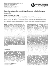 Detection and Predictive Modeling of Cha... by Khan, S.