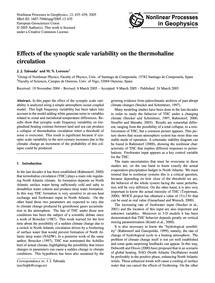 Effects of the Synoptic Scale Variabilit... by Taboada, J. J.