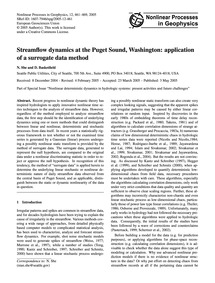 Streamflow Dynamics at the Puget Sound, ... by She, N.
