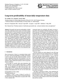 Long-term Predictability of Mean Daily T... by Von Bloh, W.