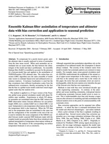 Ensemble Kalman Filter Assimilation of T... by Keppenne, C. L.