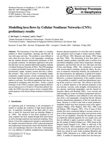 Modelling Lava Flows by Cellular Nonline... by Del Negro, C.
