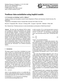 Nonlinear Data-assimilation Using Implic... by Terwisscha Van Scheltinga, A. D.