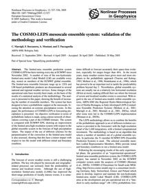 The Cosmo-leps Mesoscale Ensemble System... by Marsigli, C.