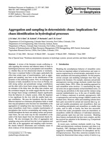 Aggregation and Sampling in Deterministi... by Salas, J. D.