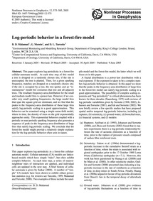 Log-periodic Behavior in a Forest-fire M... by Malamud, B. D.