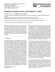 Prediction of Magnetic Storm Events Usin... by Anh, V. V.