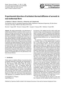 Experimental Detection of Turbulent Ther... by Eidelman, A.