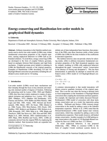 Energy-conserving and Hamiltonian Low-or... by Gluhovsky, A.