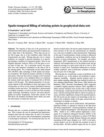 Spatio-temporal Filling of Missing Point... by Kondrashov, D.