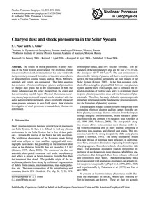 Charged Dust and Shock Phenomena in the ... by Popel, S. I.