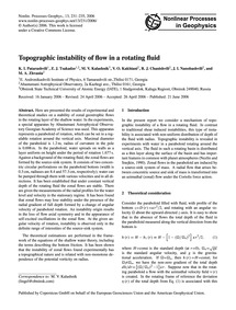 Topographic Instability of Flow in a Rot... by Patarashvili, K. I.