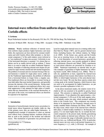 Internal-wave Reflection from Uniform Sl... by Gerkema, T.