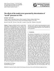 The Effects of the Model Errors Generate... by Zheng, Q.