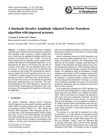 A Stochastic Iterative Amplitude Adjuste... by Venema, V.