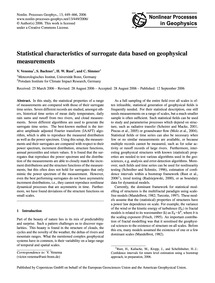 Statistical Characteristics of Surrogate... by Venema, V.