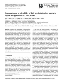 Complexity and Predictability of Daily P... by Silva, M. E. S.
