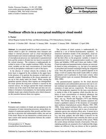 Nonlinear Effects in a Conceptual Multil... by Wacker, U.