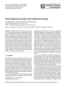 Meteorological Uncertainty and Rainfall ... by Von Hardenberg, J.