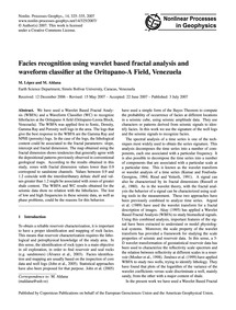 Facies Recognition Using Wavelet Based F... by López, M.