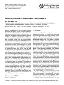 Detecting Nonlinearity in Run-up on a Na... by Bryan, K. R.