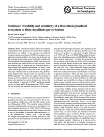 Nonlinear Instability and Sensitivity of... by Mu, M.