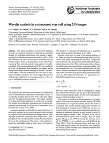 Wavelet Analysis in a Structured Clay So... by Piñuela, J. A.