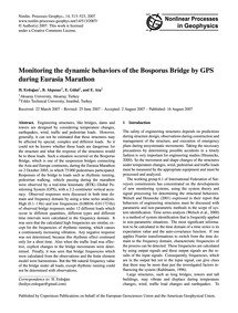 Monitoring the Dynamic Behaviors of the ... by Erdoğan, H.