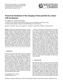 Numerical Simulations of the Charging of... by Miloch, W. J.