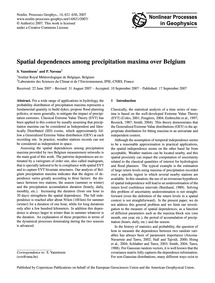 Spatial Dependences Among Precipitation ... by Vannitsem, S.