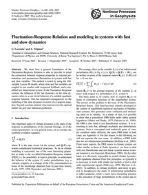 Fluctuation-response Relation and Modeli... by Lacorata, G.