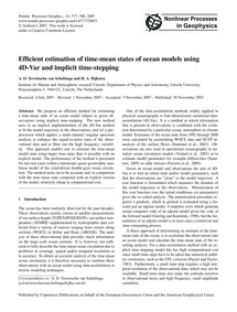 Efficient Estimation of Time-mean States... by Terwisscha Van Scheltinga, A. D.