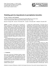 Modeling Pairwise Dependencies in Precip... by Vrac, M.