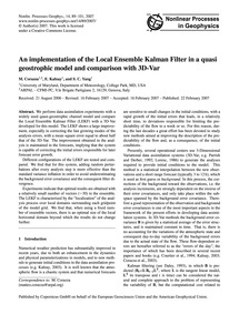 An Implementation of the Local Ensemble ... by Corazza, M.