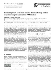 Estimating Return Levels from Maxima of ... by Ribereau, P.