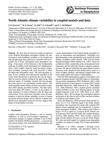 North Atlantic Climate Variability in Co... by Kravtsov, S. K.