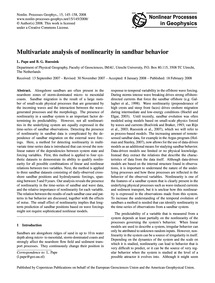 Multivariate Analysis of Nonlinearity in... by Pape, L.
