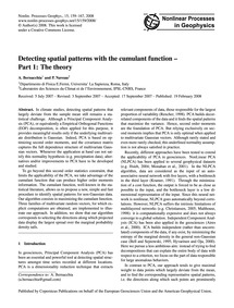 Detecting Spatial Patterns with the Cumu... by Bernacchia, A.