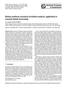 Robust Nonlinear Canonical Correlation A... by Cannon, A. J.